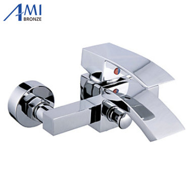 Contemporary Tub Faucet with waterfall Spout Wall Mount wf11