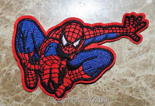 SALL HOT! ~ ספיידרמן עכביש גיבור פאנק ברזל על תיקונים, לתפור על תיקון, אפליקציות, עשוי מבד, 100% איכות מובטחת