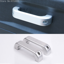 For Land Rover Defender 110 Landrover 90 2015 2016 Car Interior Aluminum Alloy Chrome Door Handle Trim with Logo Accessories