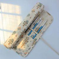 무료 배송 수제 헝겊 캔버스 브러쉬 페인팅 수채화 물감 펜 분필 연필 삽입 특수 스토리지 커튼