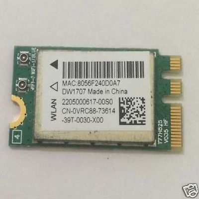 Wireless Adapter Card for Dell DW1707 DP/N VRC88 Qualcomm Atheros