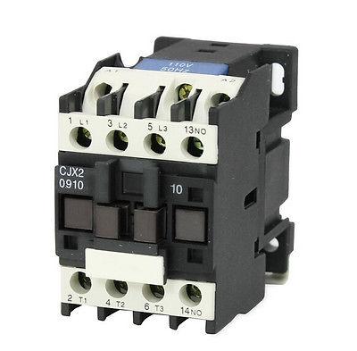 CJX2-0910 AC Contactor 110V 50/60Hz Coil 9A 3-Phase 3-Pole 1NOCJX2-0910 AC Contactor 110V 50/60Hz Coil 9A 3-Phase 3-Pole 1NO