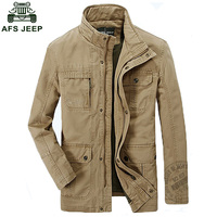 AFS JEEP Brand Mens Good Quality Spring Autumn Jackets Men S Cotton Military Army Soldier Washing
