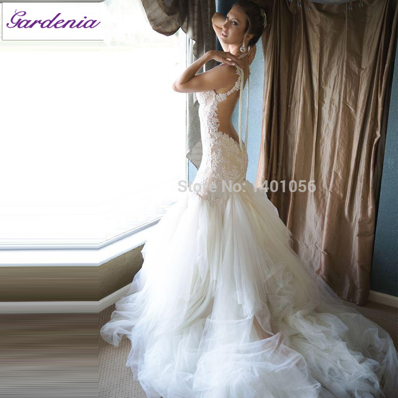 Wedding Gowns with Three Pearls Actual Image Bride Show Dress ...
