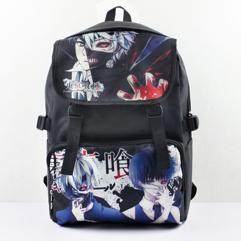 Cool Man Tokyo Ghouls Ken Kaneki Anime Nylon Backpack Shoulder Bag Laptop Bag School Bag