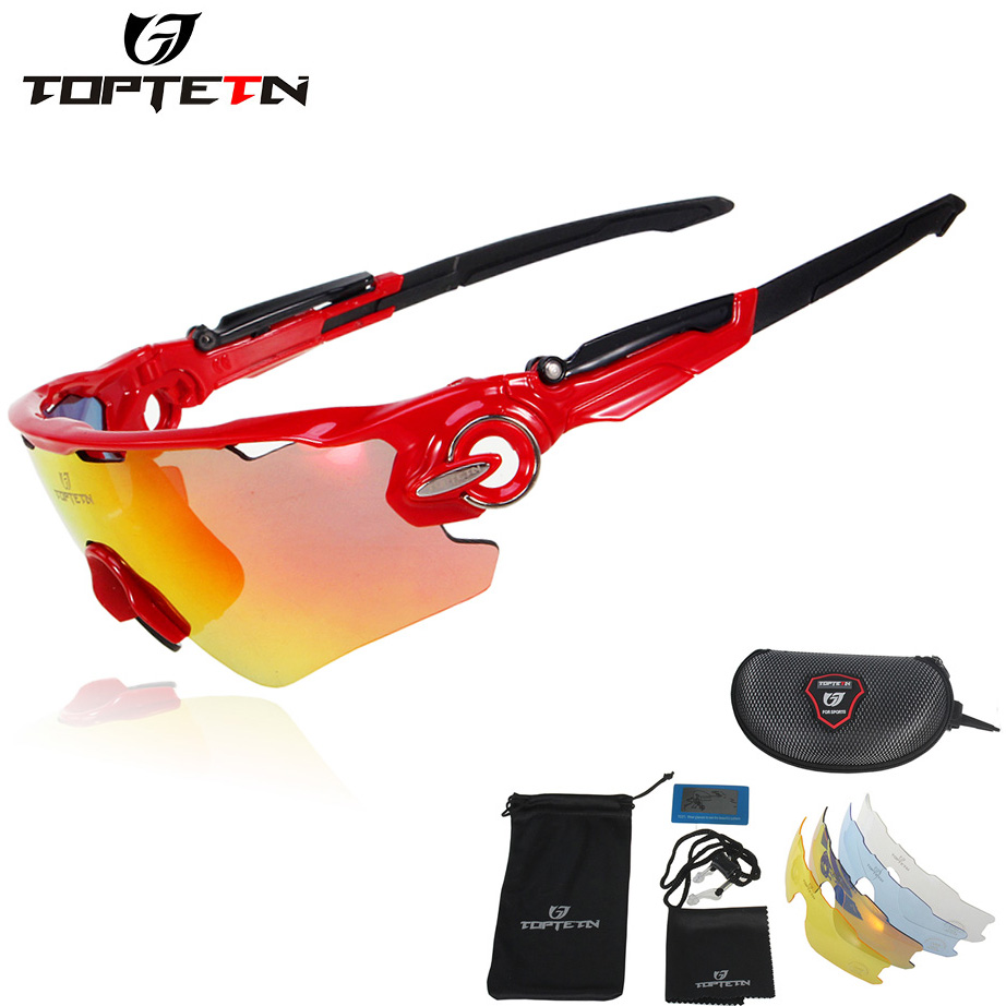 TOPTETN Brand 5 Lenses Rushed Outdoor Cycling Sunglasses Polarized ...