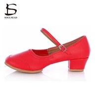 2015 Ballet Shoes Women With Square Dancing Shoes Ethnic Dance Shoes Teachers Soft Bottom Shoes