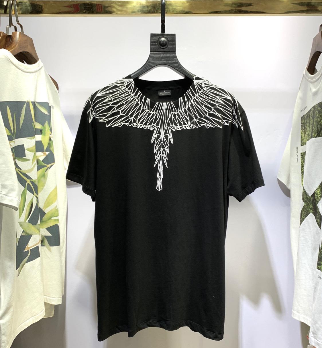 Meilleure qualité Marcelo Burlon T-shirt hommes femmes surdimensionné 1:1 italie marque plumes ailes MB T-shirt Marcelo Burlon T-shirt