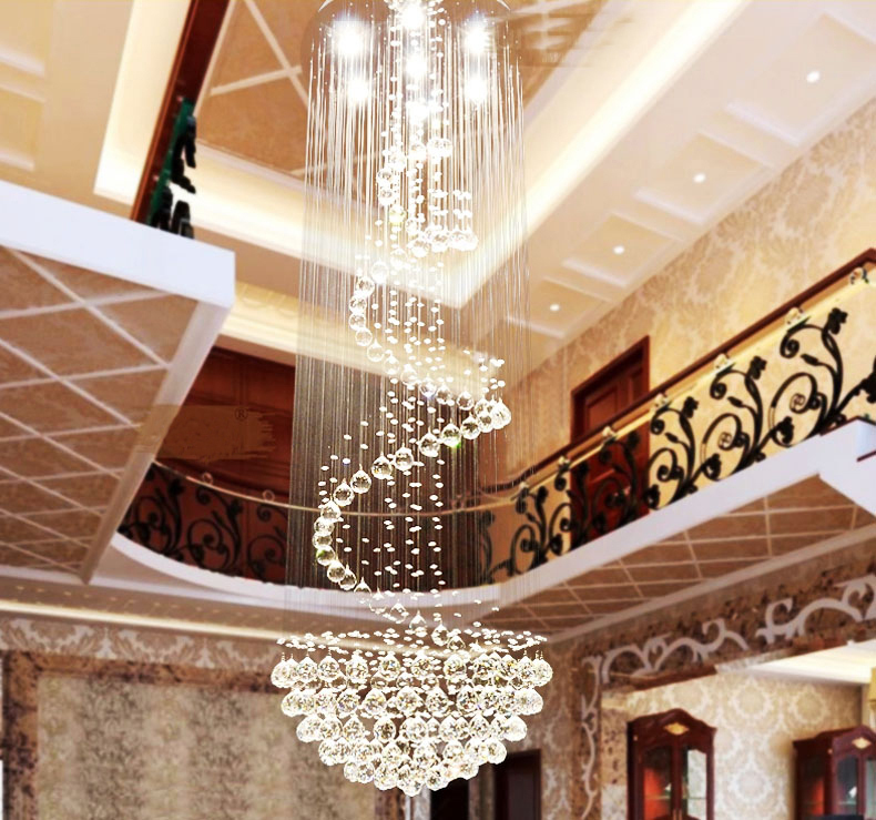 Lighting Basement Washroom Stairs: Classic Design Modern Crystal LED Ceiling Lamp Crystal