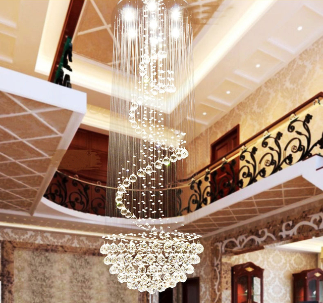 Classic design modern crystal led ceiling lamp crystal lighting classic design modern crystal led ceiling lamp crystal lighting fixture s style stair way big ceiling aloadofball Gallery
