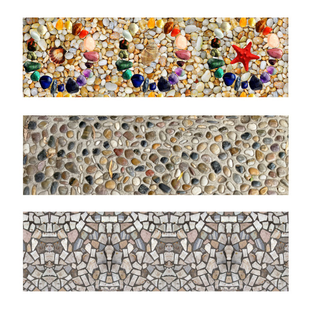 Retro New Self Adhesive Tile Stickers Floor Poster Removable Wall Sticker Pebbles Anti Skid