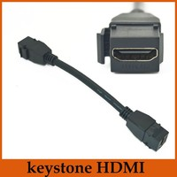 New Style 15cm F F Keystone HDMI 1 4 Video Audo Cable Kabel Cabo Keystone Jack