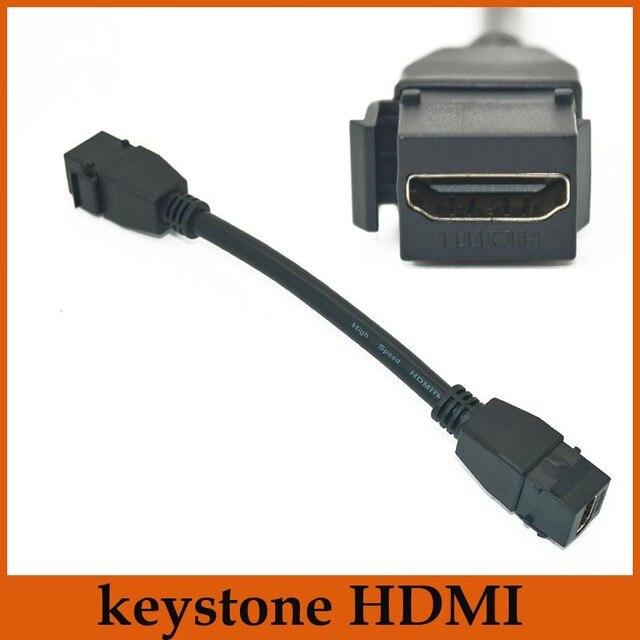 Nuevo estilo 15 cm F / F HDMI 1.4 Audio Video Cables Keystone Jack adaptador de acoplamiento Cables para Keystone placa de pared