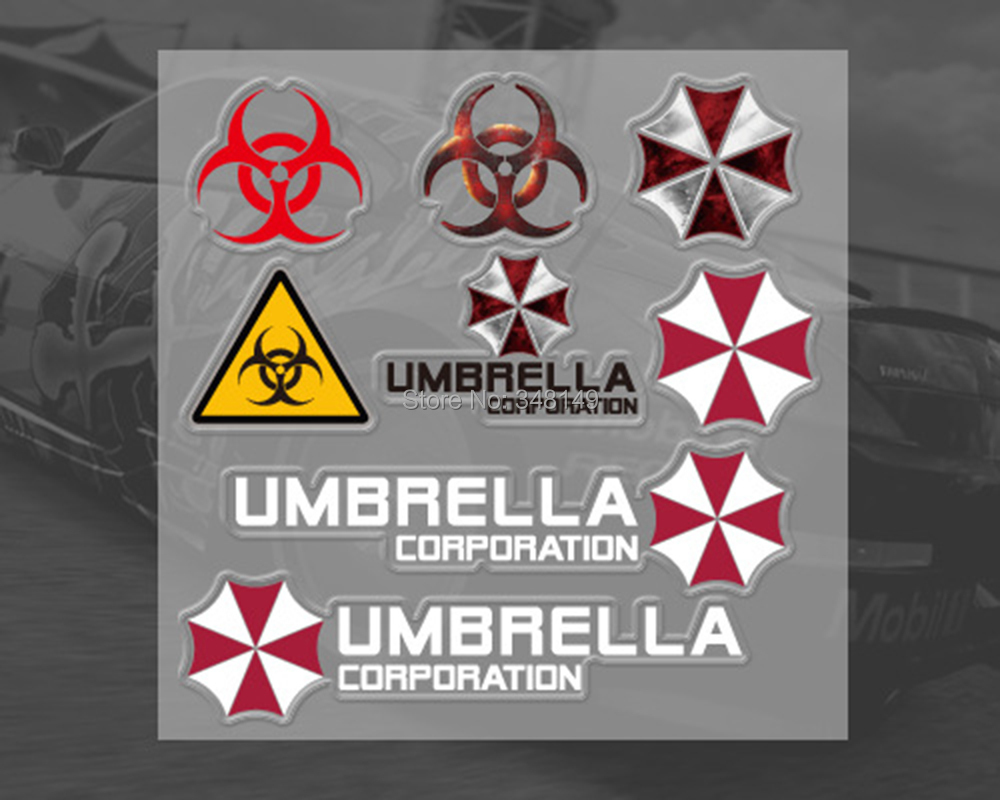 Aliauto pajisje aksesore Car Umbrella Corporation Car Sticker and Decal For Ford fokus VW golf Skoda Kia Mazda Toyota Opel Peugeot