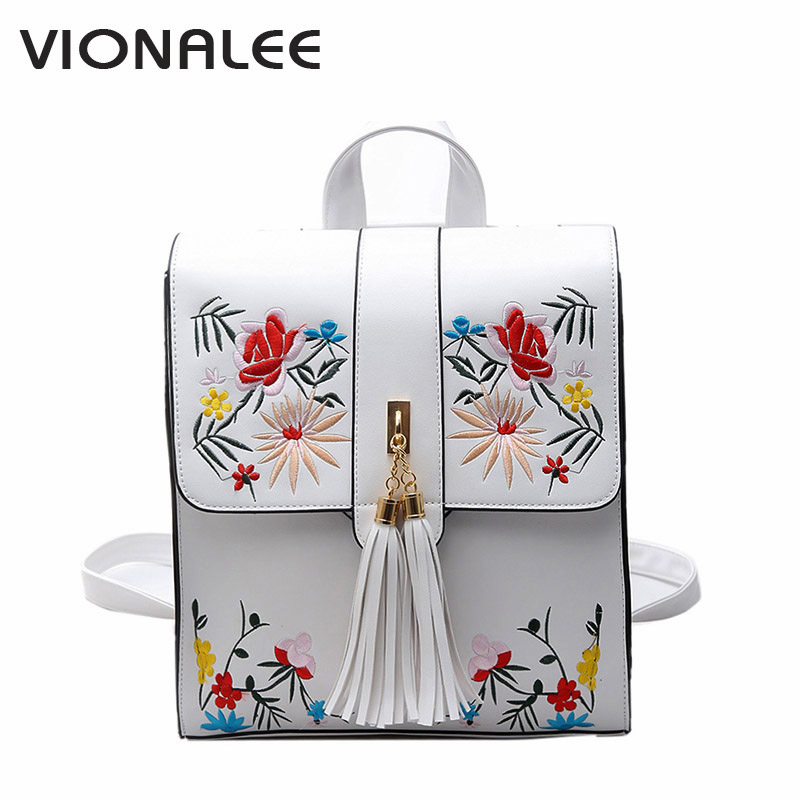 Floral Cute Backpacks White Leather Backpack Backbag Designer Backpack Schoolbag Bag School Flower Women For Teenagers