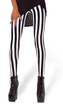 Striped Vertical Printed Legging
