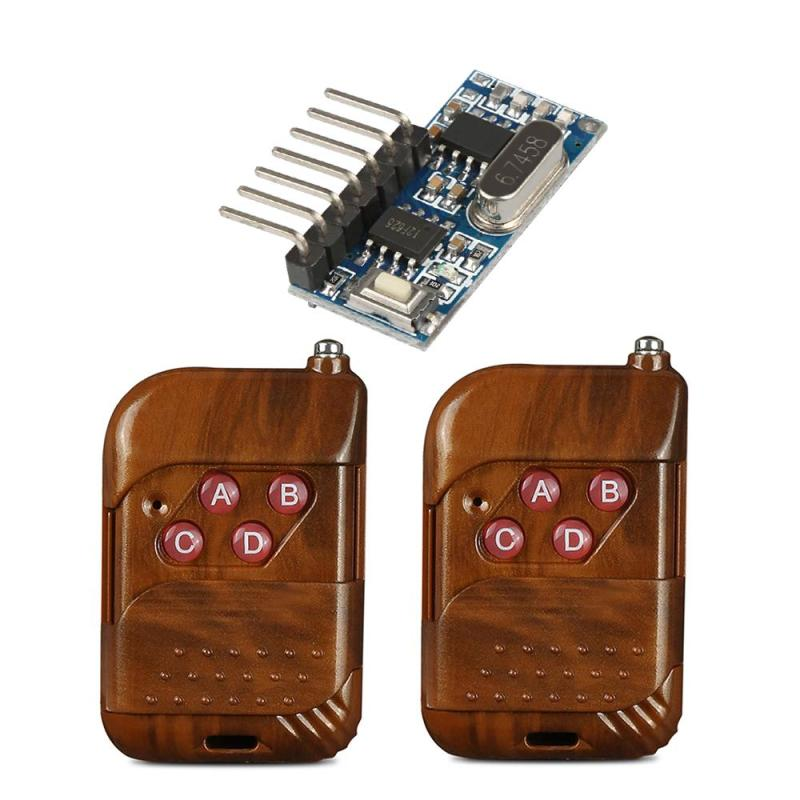 Wireless 433 MHz RF 4 Channel Remote Control Learning Code 1527 DC 12V Transmitter And Relay Receiver Module Gate Switch System