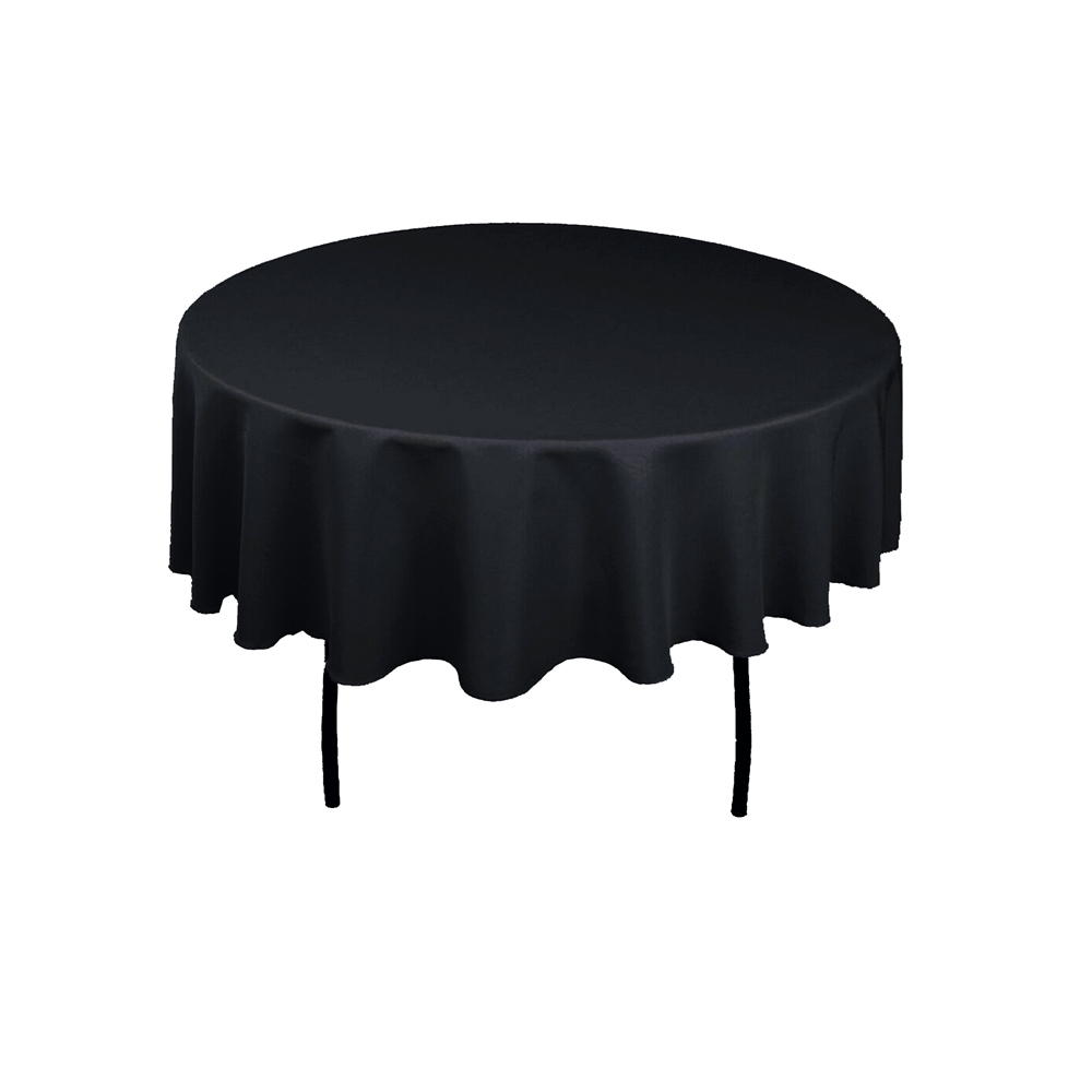 100% Double Stitched Polyester Round Tablecloth Dining Table Cloth For Hotel Office Wedding Home Decoration In Solid Colors-in Tablecloths from Home & Garden    3