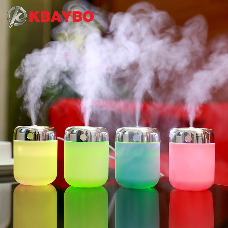 180ML USB Ultrasonic Humidifier Air Aroma Diffuser Mist Maker, Essential Oil diffuser of Home and Car