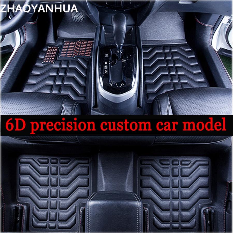 Zhaoyanhua high quality custom fit car floor mats for honda fit crv cr v hr v vezel 6d sepcial car styling carpet floor liners