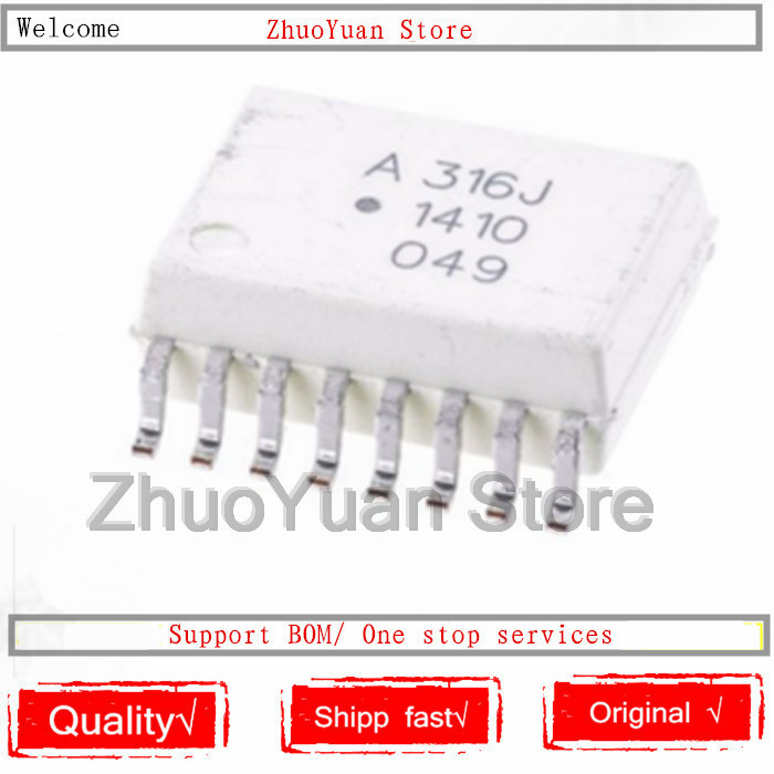 1PCS/lot New Original A316J HCPL-316J HCPL-316J-500E SMD SOP16 IC Chip
