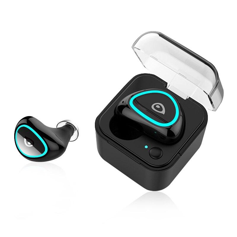 Mini Charging Box Wireless Bluetooth Headset In ear Sports Earphones Music Earbuds Portable Stereo Headphones Black