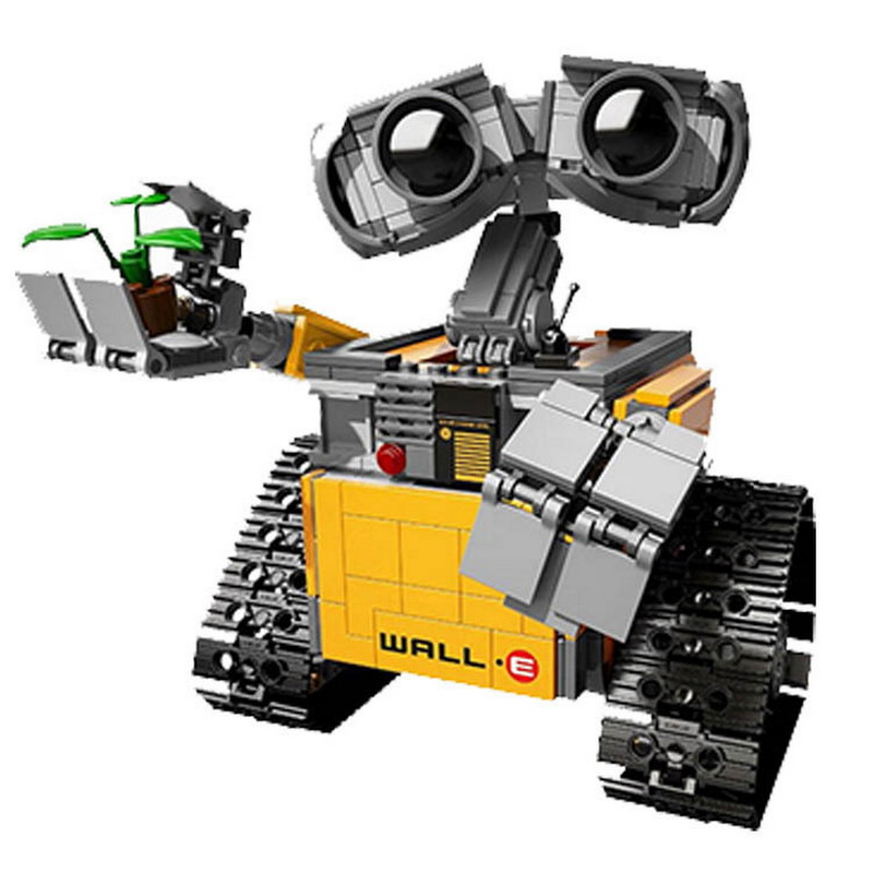 16003 LEPIN 687Pcs The Idea Robot WALL E Model Building Blocks Enlighten DIY Action Figure Toys For Children Compatible Legoe 1120 enlighten city happy journey truck camping car model building blocks diy action figure toys for children compatible legoe