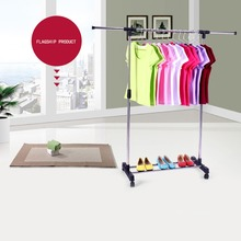 One-layer single pole standing clothes drying rack metal floor hanger cheap and high quality