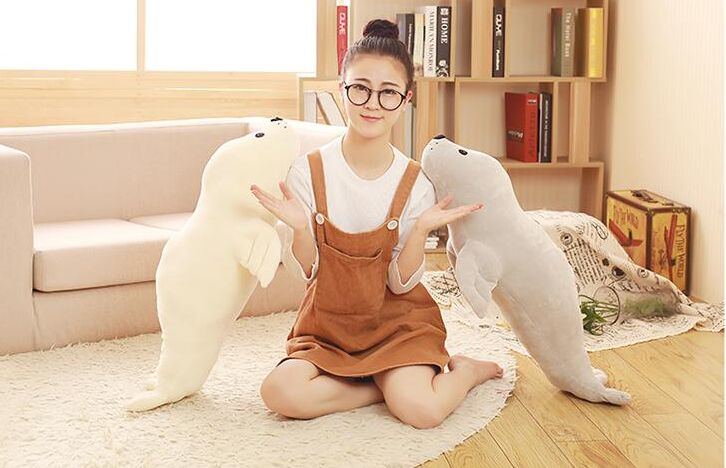 Cartoon Seal Soft Plush Cushion,back Cushion,throw Pillow Home Decoration Birthday Gift P0509 Waterproof Home & Garden Shock-Resistant And Antimagnetic Home Textile