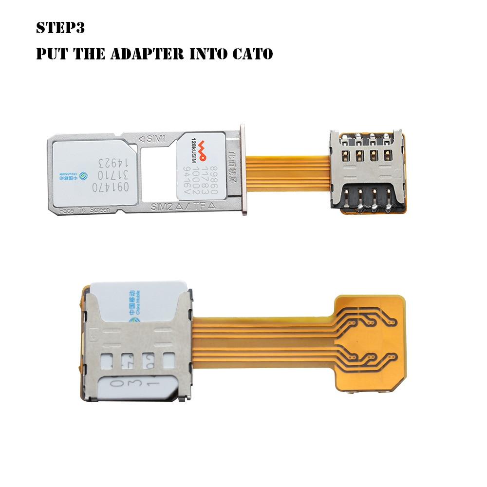 New DIY Practical Universal TF Hybrid Sim Slot Dual SIM Extender Card Adapter Micro SD Extender Nano Cato Android Phone
