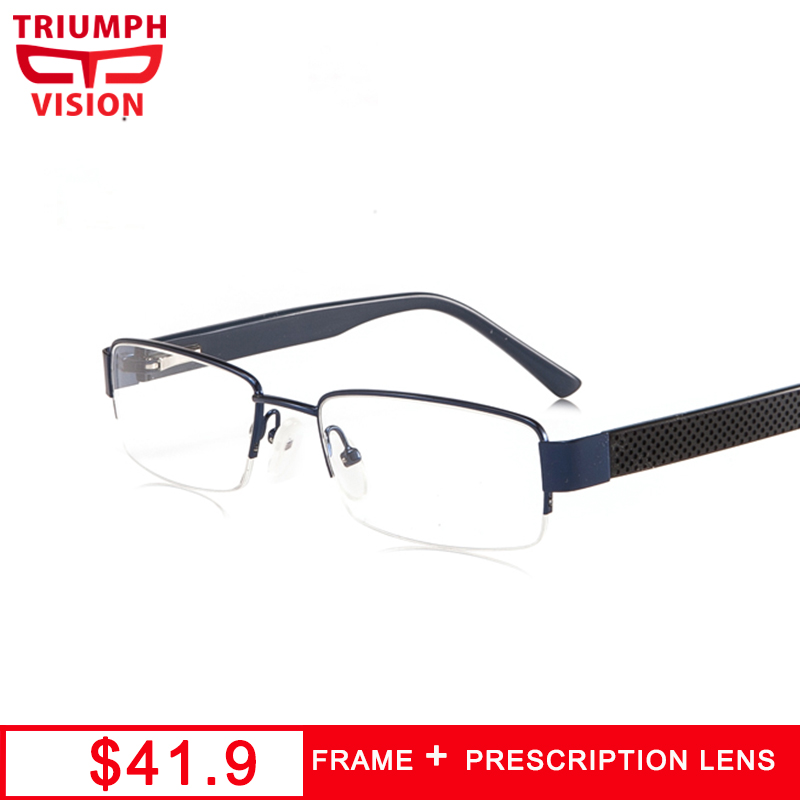 TRIUMPH VISION <font><b>Prescription</b></font> <font><b>Glasses</b></font> <font><b>Men</b></font> Multifocal <font><b>Progressive</b></font> Computer Reading <font><b>Glasses</b></font> <font><b>Men</b></font> Eyeglasses Clear Spectacles Brillen image
