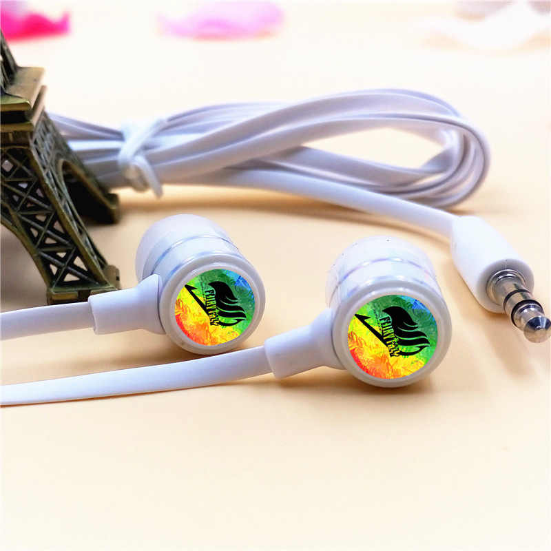 6dd00a5d37c Anime Fairy Tail Guild Lucy Cartoon In-ear Earphone 3.5mm Stereo Earbuds  Music Headset