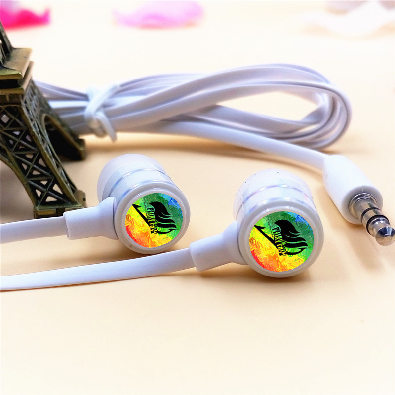 Anime Fairy Tail Guild Lucy Cartoon In-ear Earphone 3.5mm Stereo Earbuds Music Headset for Iphone Samsung Xiaomi MP3 Video Game