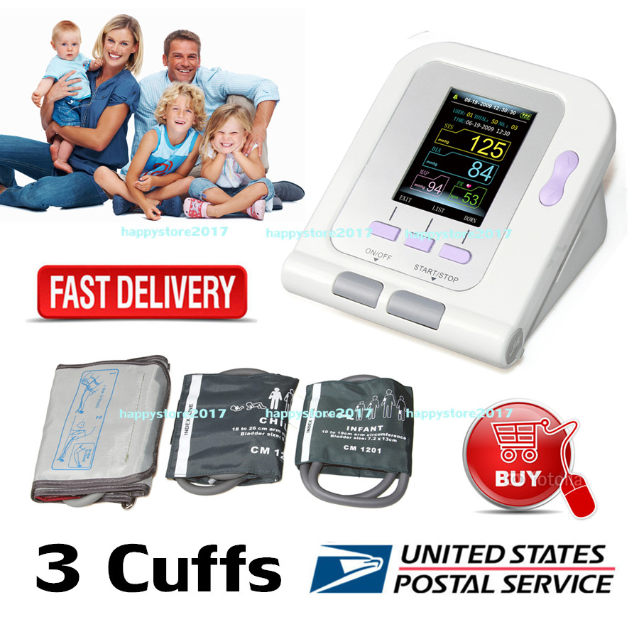 US STOCK CONTEC08A OLED Digital Blood Pressure Monitor Heart beat Monitor PC USB 3 cuff Free ShippingUS STOCK CONTEC08A OLED Digital Blood Pressure Monitor Heart beat Monitor PC USB 3 cuff Free Shipping