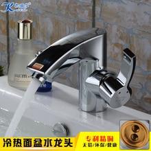Медь кран горячей и холодной умывальник кран на одно отверстие ванная комната счетчик бассейна кран на одно отверстие