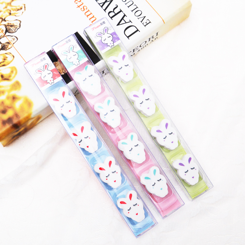 4pcs/lot Cute Rabbit Eraser School Office Rubber Eraser Special Painting Classic Old Brand Eraser Give Your Child A Reward Gift