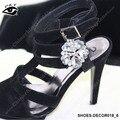 Atacado 80 pçs/lote 4 CM Coração De Strass Grau & Vidro Sapato Sapatos de Casamento Decoração Clipe Acessórios Frete Grátis