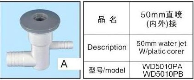 plastic hot tub air nozzles,bubble jets china spa bathtub 1inch water jet 50MM