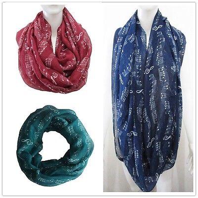 Women Fashion Winter Music Note Treble Clef Shawl Stole   Scarves     Scarf     Wrap