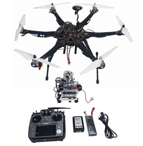 Assembled Full Kit Drone RTF HMF S550 Frame GPS APM2.8 Flight Control with Compass AT10 TX / RX 2-axis Gimbal
