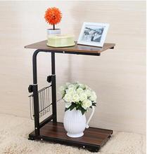 53*33CM Wood Laptop Table Height-Adjustable Lazy Bedside Table Living Room Coffee Table Folding Notebook Computer Desk