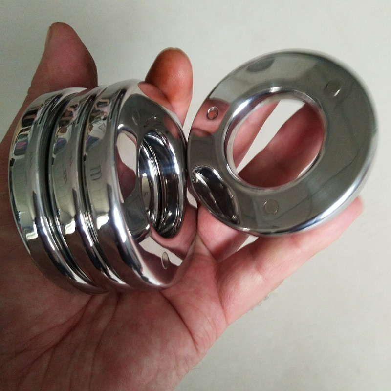4 PCS/Set Superposition Scrotal Pendant Stainless Steel Magnetic Suction Ring Testicle Penis Pendant Sex Toys for Men B2-2-237