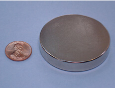 NdFeB Disc Magnet  2 dia.x3/8 thick Neodymium Permanent Magnets Grade N42 NiCuNi Plated Axially Magnetized EMS SHIPPED ndfeb magnet block 40x25x10 mm super strong magnet neodymium permanent magnets rare earth magnets grade n42 nicuni plated