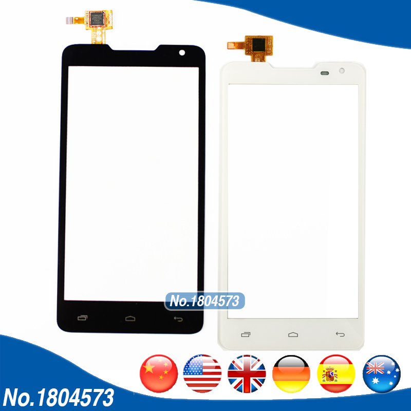 Black White Touch Panel For Prestigio MultiPhone PAP5044 PAP 5044 DUO Touch Screen Digitizer Front Glass Len With Flex 1PC/Lot