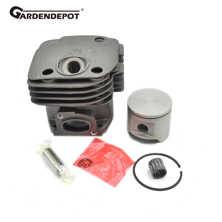 48mm Square Cylinder Piston Ring Gasket Needle Bearing Kit For Husqvarna 362 365 371 372 CHAINSAW