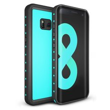 IP68 Waterproof case For Galaxy S8 Shock Dirt Snow Proof Protection  for Samsung Galaxy S8 With Touch ID Case Cover Light blue for galaxy s8 plus case shock dirt snow proof protection for samsung galaxy s8 with touch id cover
