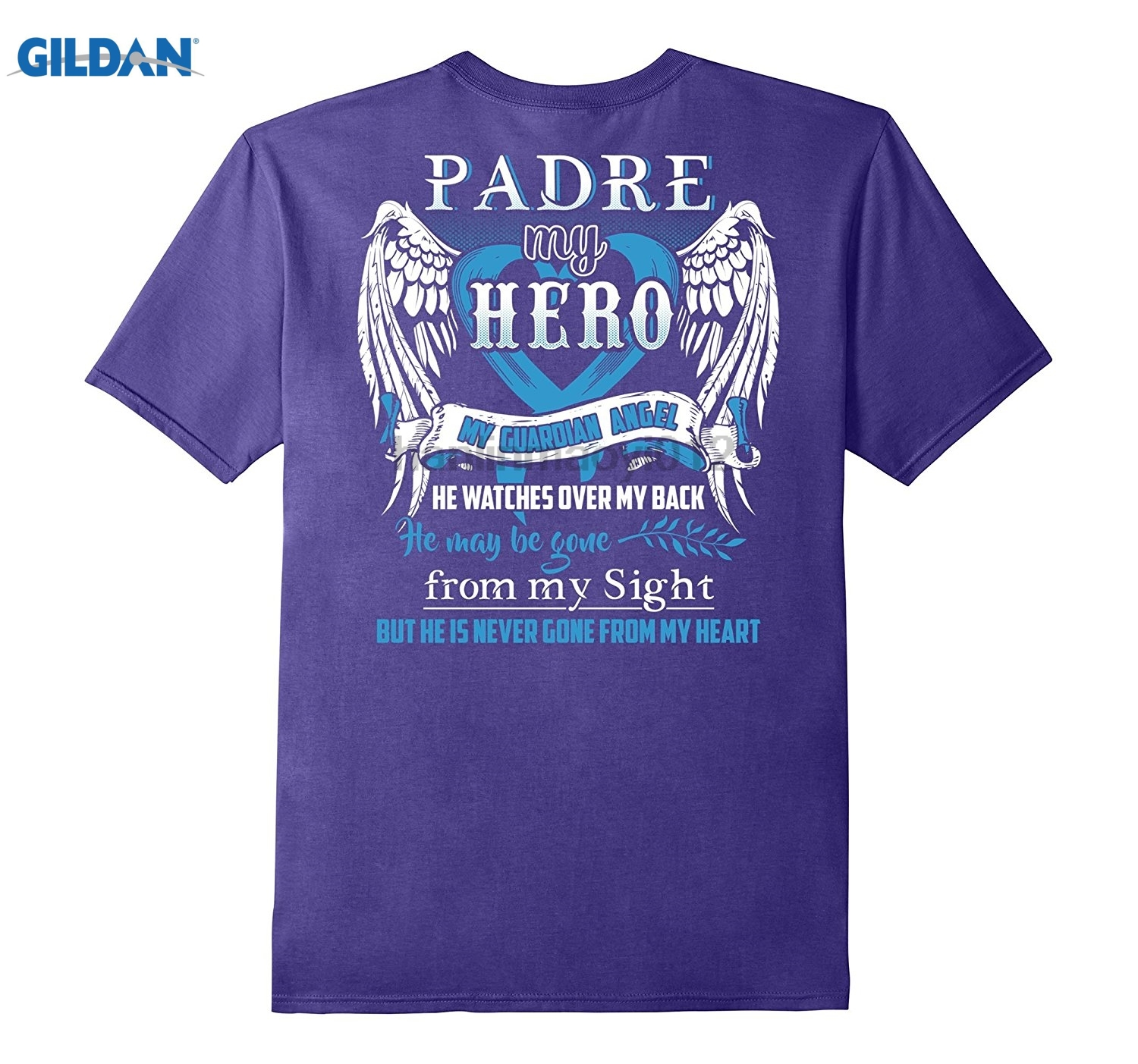 GILDAN Papa is my guardian angel shirt-Papa in heaven T-Shirt dress T-shirt