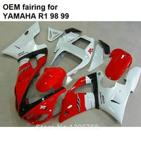 Fit for Yamaha fairings YZF R1 1998 1999 red white motorcycle fairings set YZFR1 98 99 CN29