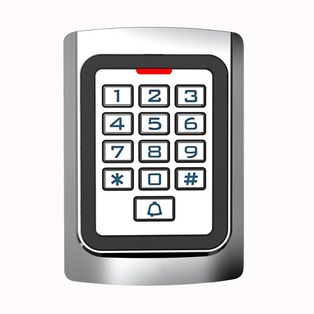 SIB металлический корпус силиконовой клавиатуры безопасности входная дверь RFID считыватель 125 кГц EM контроля доступа карты автономный F1331D