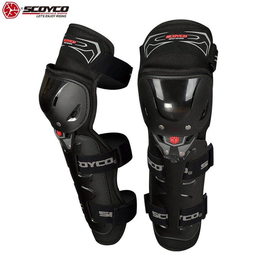 SCOYCO 2019 Motorcycle Knee Guard 2 pcs with PP Shell Protection Shin Protector Safety Cycling Racing